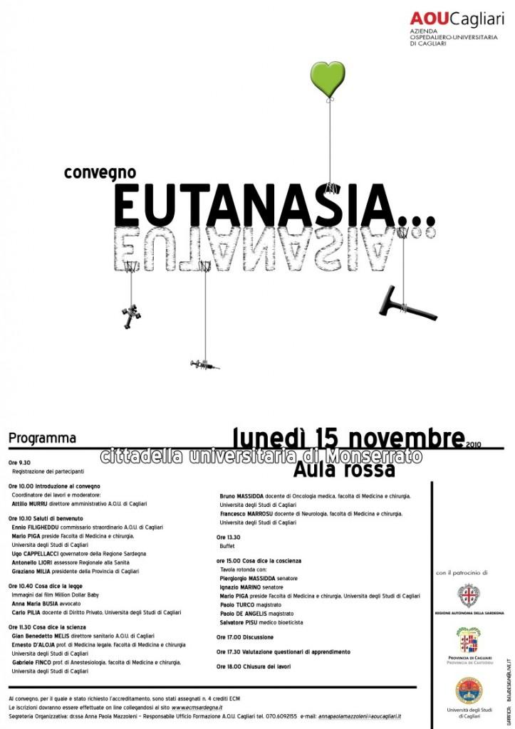 Locandina convegno Eutanasia Cagliari